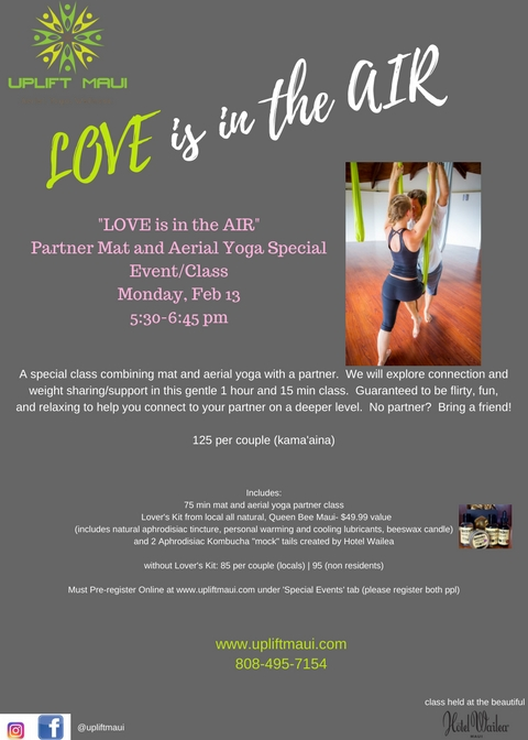 """""""Love is in the Air""""~ Special partner class Feb 13th"""