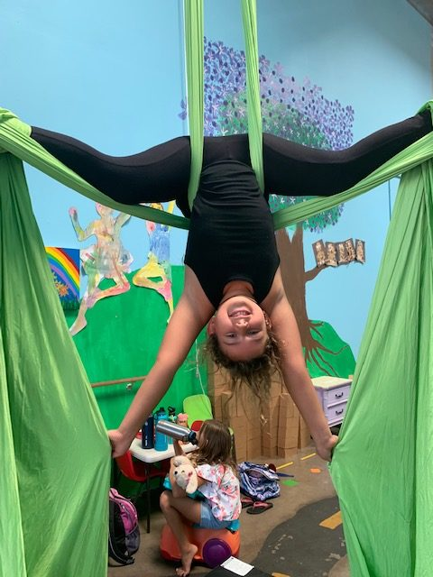 Kids and Teen Aerial Silks Classes start October 2nd, 2019 at Little Monk Seal